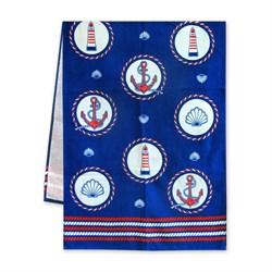 Махровые полотенца Регата 60*120 синий - фото 30573