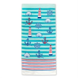 Махровые полотенца Регата 33* 70 аква - фото 30577