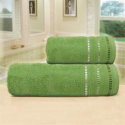 Махровые полотенца Аспект 70*140 зеленое - фото 30602