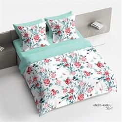 Комплект постельного белья 1.5 Браво Сатин рис.4362-1+4362а-1 Эдит - фото 30656