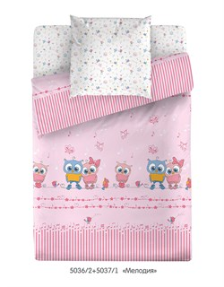 Комплект постельного белья Маленькая Соня Мелодия (розовый) - фото 30680
