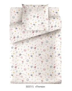 Комплект постельного белья с простыней на резинке 60*120*15 Маленькая Соня Птички - фото 30735