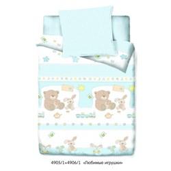 Комплект постельного белья Маленькая Соня Любимые игрушки (голубой) - фото 31097