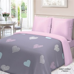 Комплект постельного белья Евро Для Снов рис.4489-1+4489а-1 Тереза - фото 31099