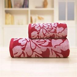 Махровые полотенца Екатерина 70*140 роз - фото 31150