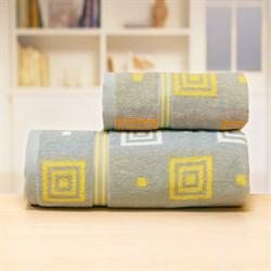 Махровые полотенца Лабиринт 70*140 сер - фото 31175