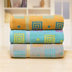 Махровые полотенца Лабиринт 33* 70 сер - фото 31178