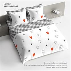 Комплект постельного белья 1.5 Браво 100% хлопок LOVE ME - фото 31215