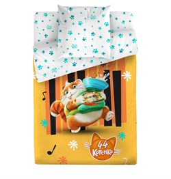 Комплект постельного белья 1.5сп 44 котёнка Пончик - фото 31247
