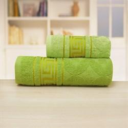 Махровые полотенца Ситара M  50* 90 зел - фото 31293