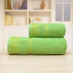 Махровые полотенце Арабика L  70*140 зел - фото 31299