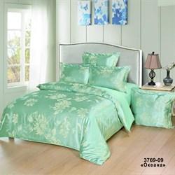 Комплект постельного белья семейный Версаль рис.3769-09 Океана - фото 31360