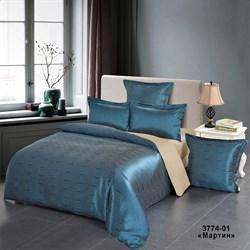 Комплект постельного белья евро Версаль рис.3774-01 Мартин - фото 31364