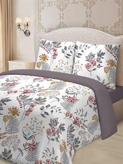 Комплект постельного белья евро Для SNOFF сатин Кларисса - фото 31475