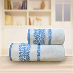 Махровые полотенца Арабелла 50* 90 синие - фото 31496