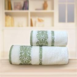 Махровые полотенца Арабелла 50* 90 зеленый - фото 31508