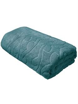 Махровые полотенце Каприз 70*130 зел - фото 31597