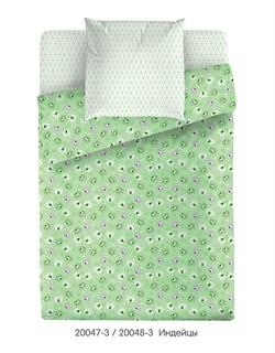 Комплект постельного белья Маленькая Соня Индейцы (зеленый) - фото 31705