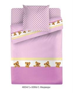 КПБ МС (прост. на рез.)  м105.05.04 Медведи (розовый) - фото 35132