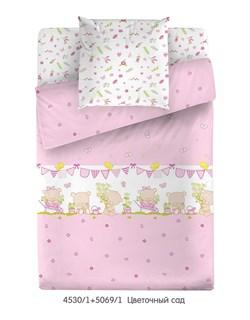 КПБ МС (прост. на рез.)  м105.05.04 Цветочный сад (розовый) - фото 35133