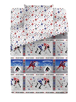 КПБ 1.5 Браво 100% хлопок м101.12.04 рис.4518-1+4518а-1 Хоккей - фото 35156