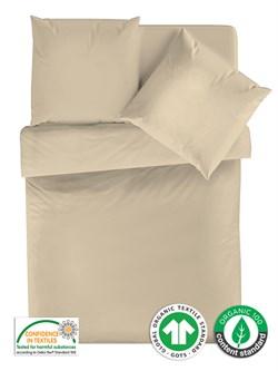 КПБ евро Organic перкаль м251.14.06 рис.4600-1 Жемчужный хлопок - фото 36641