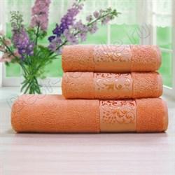 Махровое полотенце 50*90 БИА бамбук оранж.