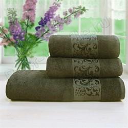 Махровое полотенце 50*90 БИА бамбук корич.