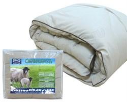Одеяло Овечья Шерсть.  Стеганный чехол.  Размер - Евро (200x220 см.)