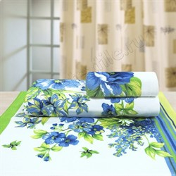 """Махровое полотенце """"Адриана"""" 33x70 син. (Х)"""