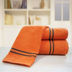 """Махровое полотенце """"Лана"""" оранж. 33x70 (Х)"""