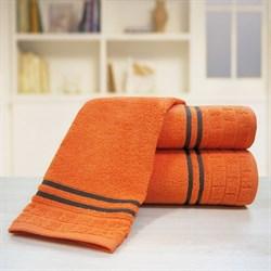 """Махровое полотенце """"Лана"""" оранж. 100х150 (Х)"""