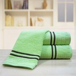 "Махровое полотенце ""Лана"" зелен. 100х150 (Х)"