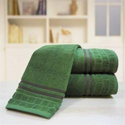 """Махровое полотенце """"Лана"""" темно-зелен. 70x140 (Х)"""