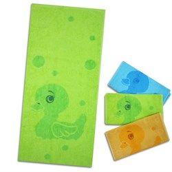 """Махровое полотенце """"Уточка"""" зелен. 33x70 (Х+Б)"""
