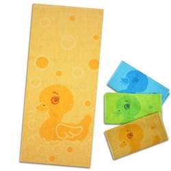 """Махровое полотенце """"Уточка"""" желт. 33x70 (Х+Б)"""