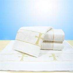 "Махровое полотенце ""Крестильное МТР"" бел. 70x140"