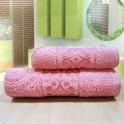 """Махровое полотенце """"Роксолана"""" роз 70x140"""