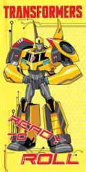 """Махровое полотенце """"Transformers"""" 1087 желт. 60x120 (Х)"""