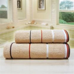 """Махровое полотенце """"Тренд"""" беж. 70x140 (Х)"""
