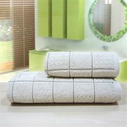"""Махровое полотенце """"Квадро"""" беж. 33x70 (Х)"""