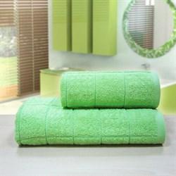 """Махровое полотенце """"Квадро"""" зел. 33x70 (Х)"""