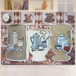 """Кухонный набор полотенец """"Капучино"""" 3пр."""