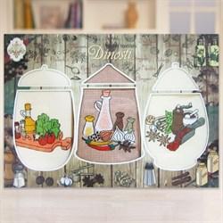 """Кухонный набор полотенец """"Специи"""" 3пр."""