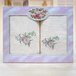 """Набор полотенец """"Флорентина"""" 0521-02 роз."""