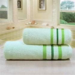 """Махровое полотенце """"Ассоль"""" зел. 65x130 (Х)"""