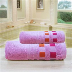 """Махровое полотенце """"Каприз"""" роз. 65x130 (Х)"""