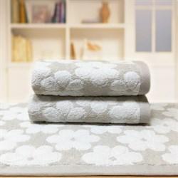 """Махровое полотенце """"Виола"""" сер. 50x90 (Х)"""
