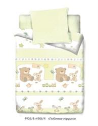 Детское постельное белье.  Постельное белье в кроватку с зайчиками и мишками.