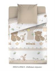 Детское постельное белье.  Постельное белье в кроватку с мишками и зайчиками